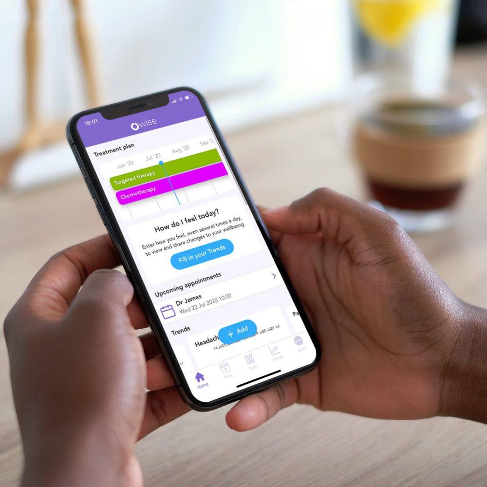 OWise app home screen